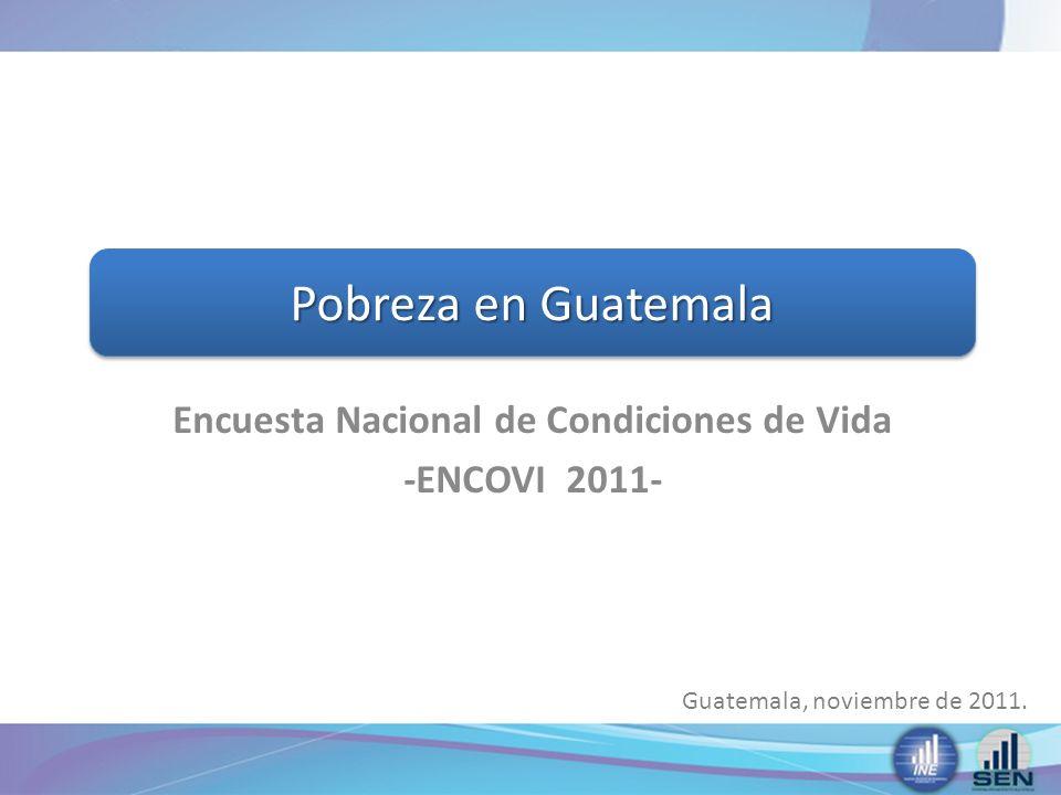 Encuesta Nacional de Condiciones de Vida -ENCOVI 2011-