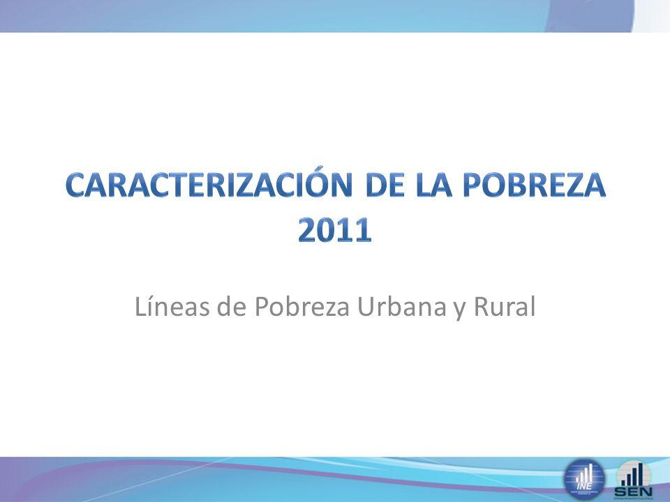 CARACTERIZACIÓN de LA POBREZA 2011