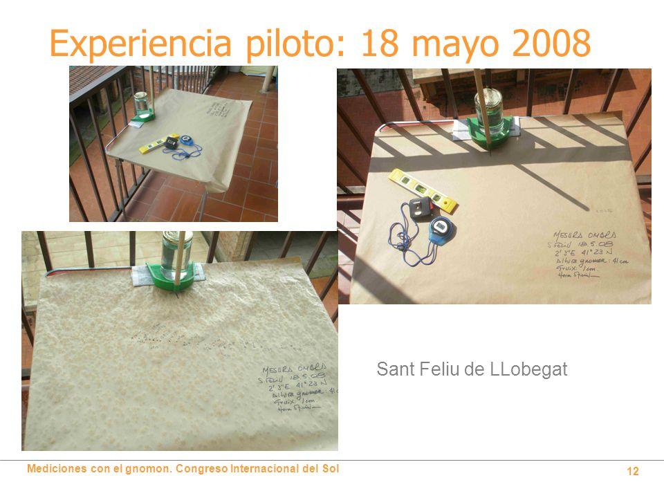 Experiencia piloto: 18 mayo 2008