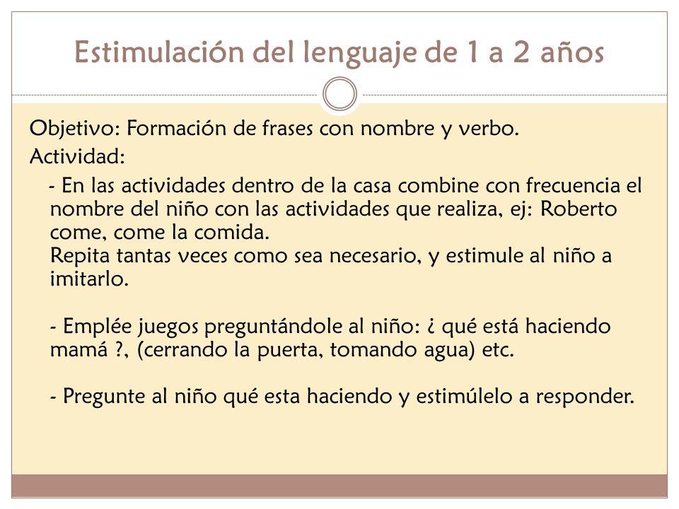 Estimulación del lenguaje de 1 a 2 años