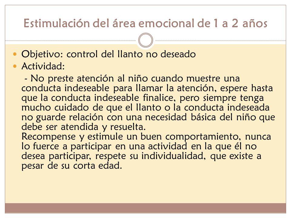Estimulación del área emocional de 1 a 2 años
