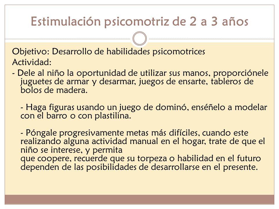 Estimulación psicomotriz de 2 a 3 años