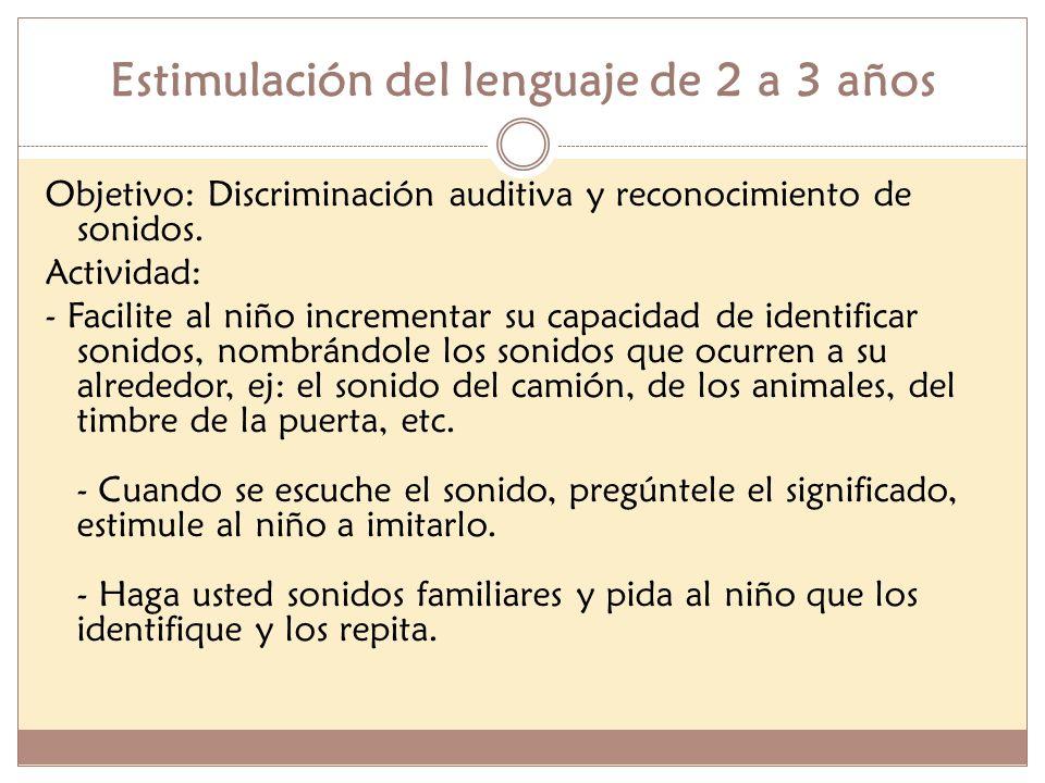 Estimulación del lenguaje de 2 a 3 años