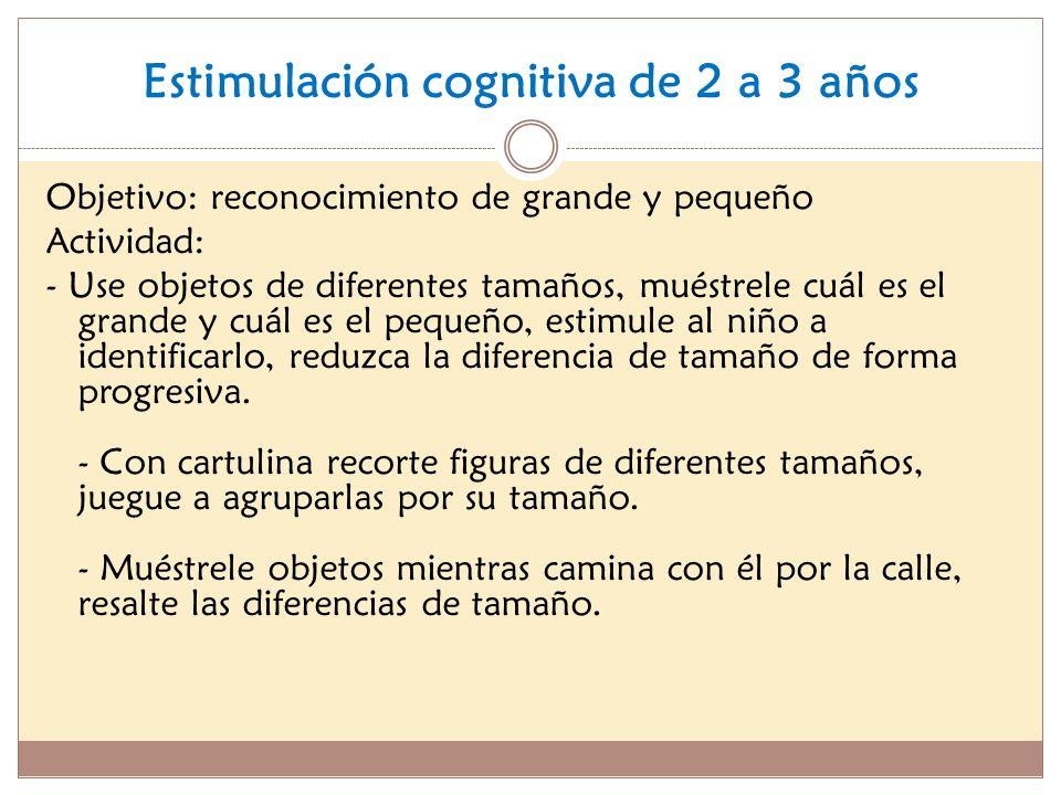 Estimulación cognitiva de 2 a 3 años