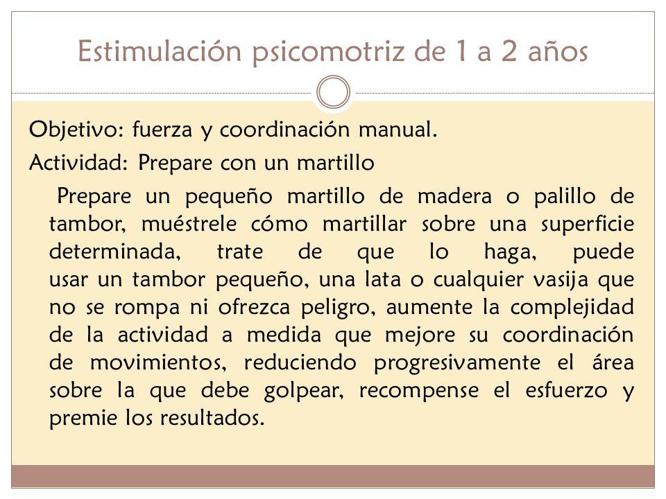 Estimulación psicomotriz de 1 a 2 años