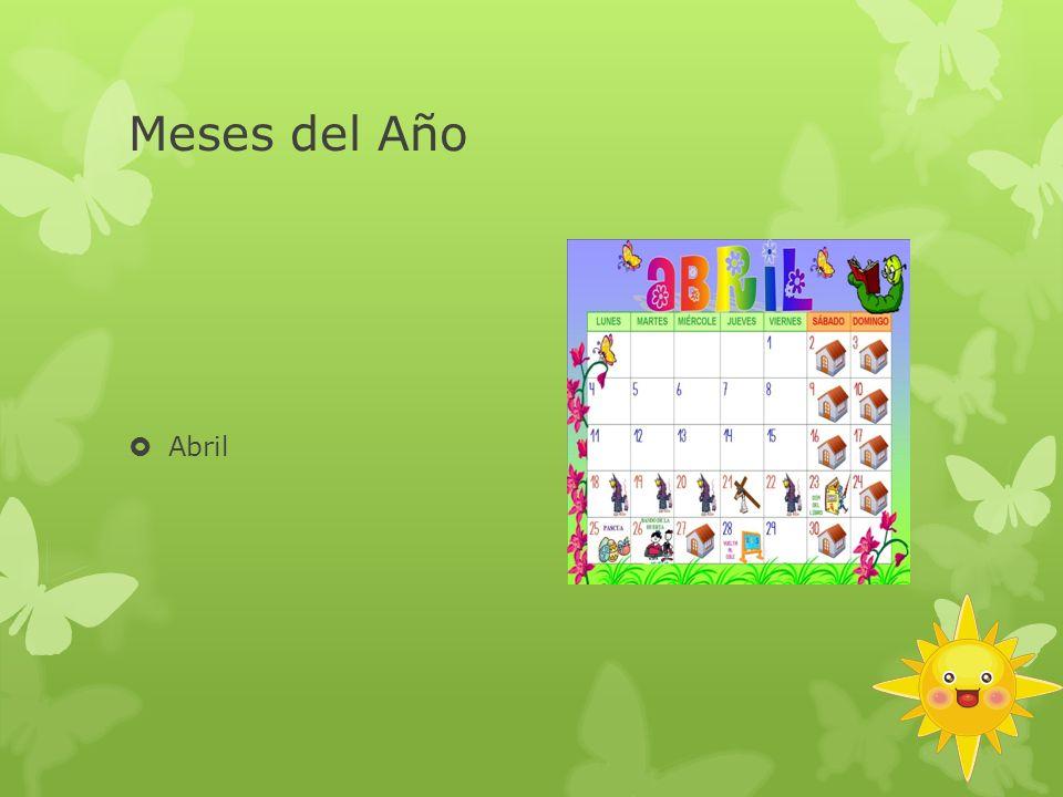 Meses del Año Abril