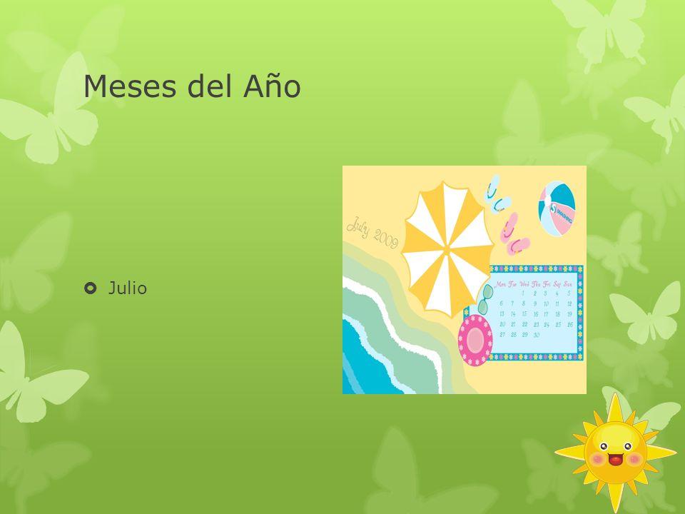 Meses del Año Julio