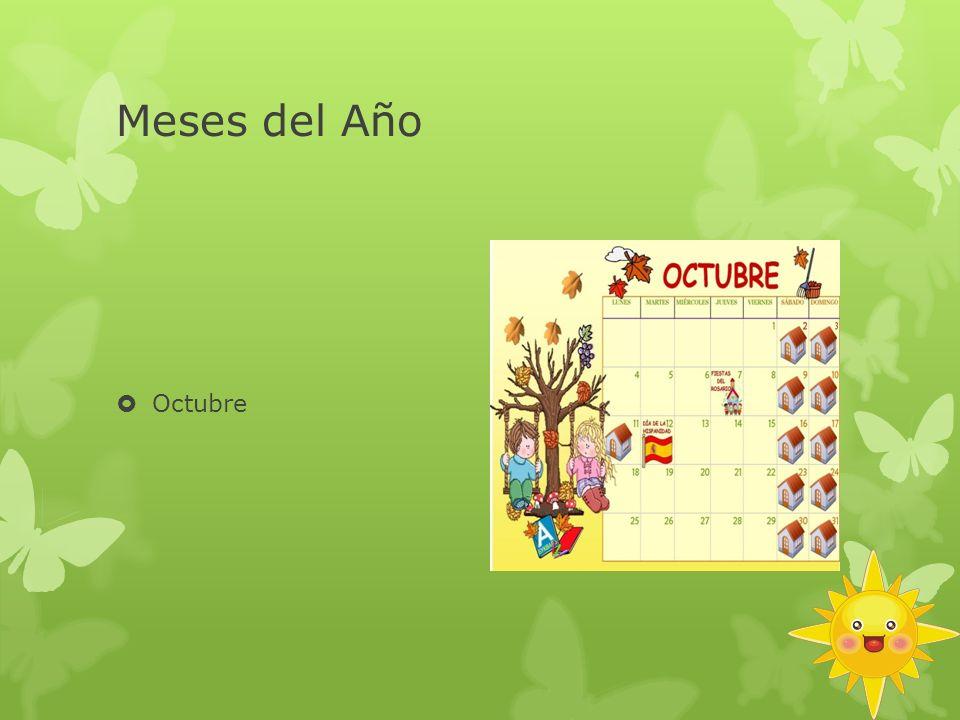 Meses del Año Octubre