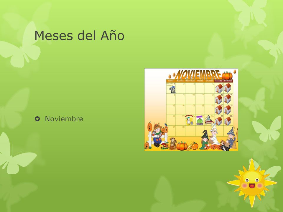 Meses del Año Noviembre