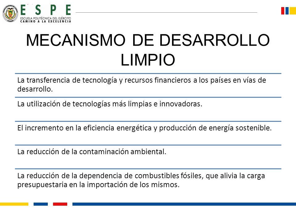 MECANISMO DE DESARROLLO LIMPIO