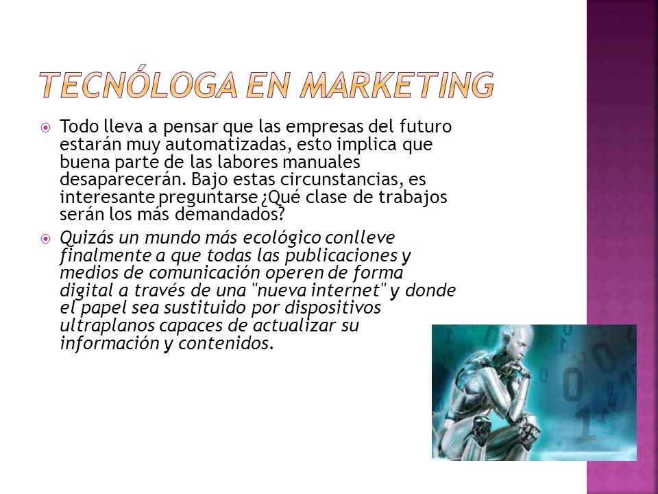 Tecnóloga en marketing