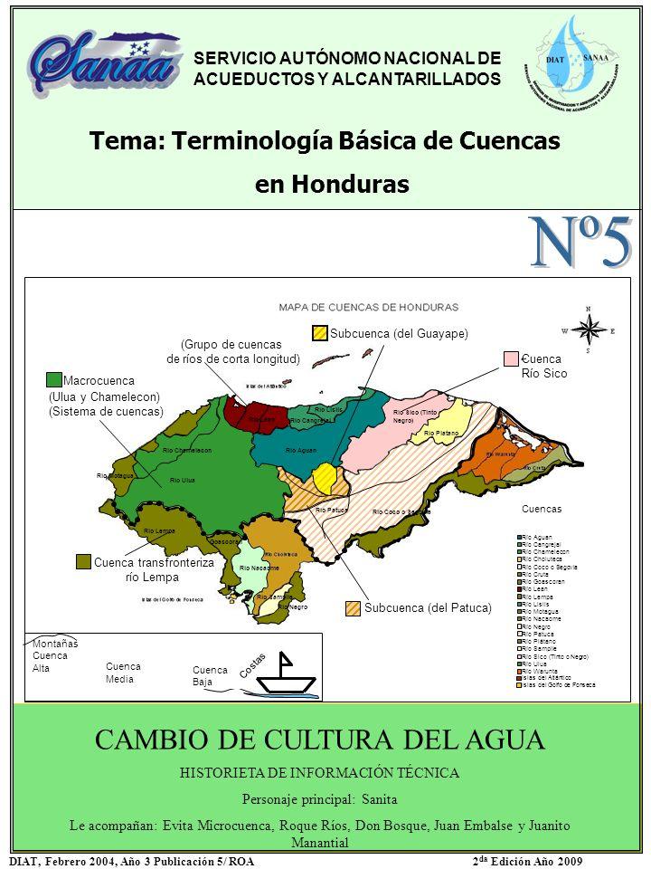 Nº5 CAMBIO DE CULTURA DEL AGUA Tema: Terminología Básica de Cuencas