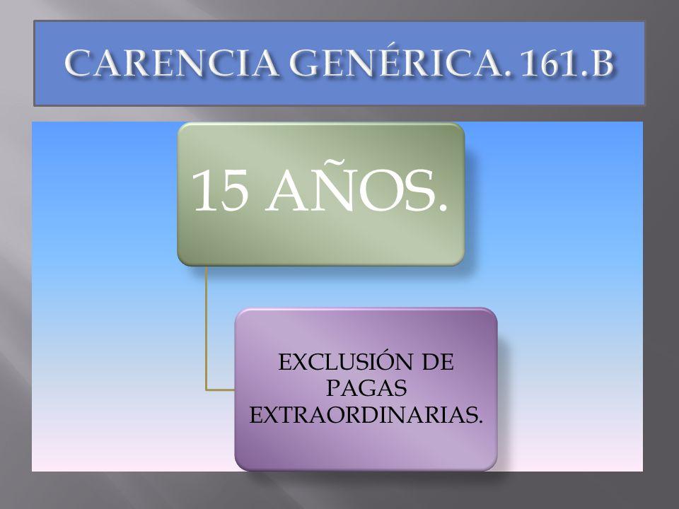 EXCLUSIÓN DE PAGAS EXTRAORDINARIAS.