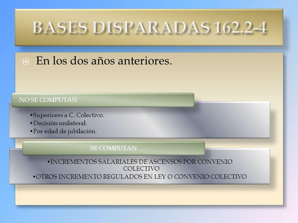BASES DISPARADAS 162.2-4 En los dos años anteriores.