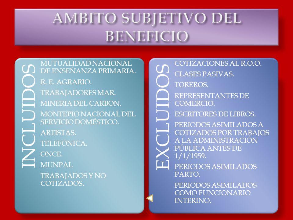 AMBITO SUBJETIVO DEL BENEFICIO