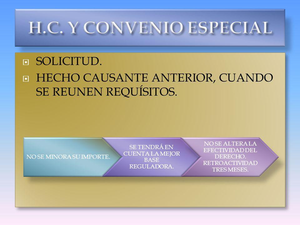 H.C. Y CONVENIO ESPECIAL SOLICITUD.