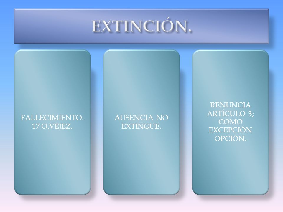RENUNCIA ARTÍCULO 3; COMO EXCEPCIÓN OPCIÓN.