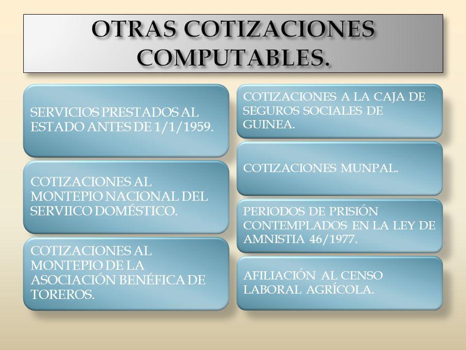 OTRAS COTIZACIONES COMPUTABLES.