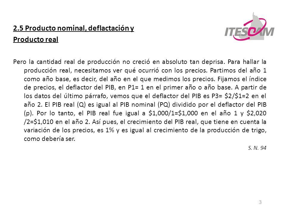 2.5 Producto nominal, deflactación y Producto real