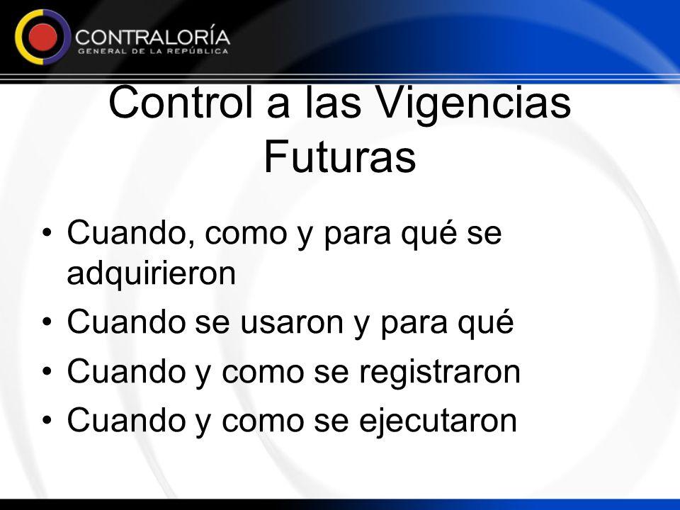Control a las Vigencias Futuras