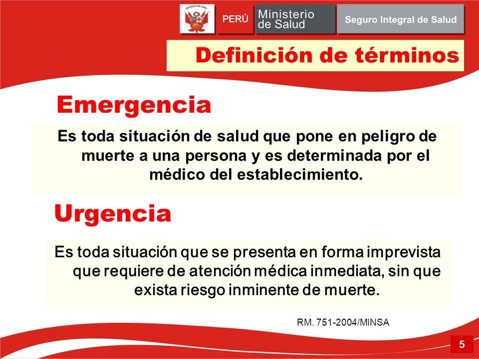 Emergencia Urgencia Definición de términos