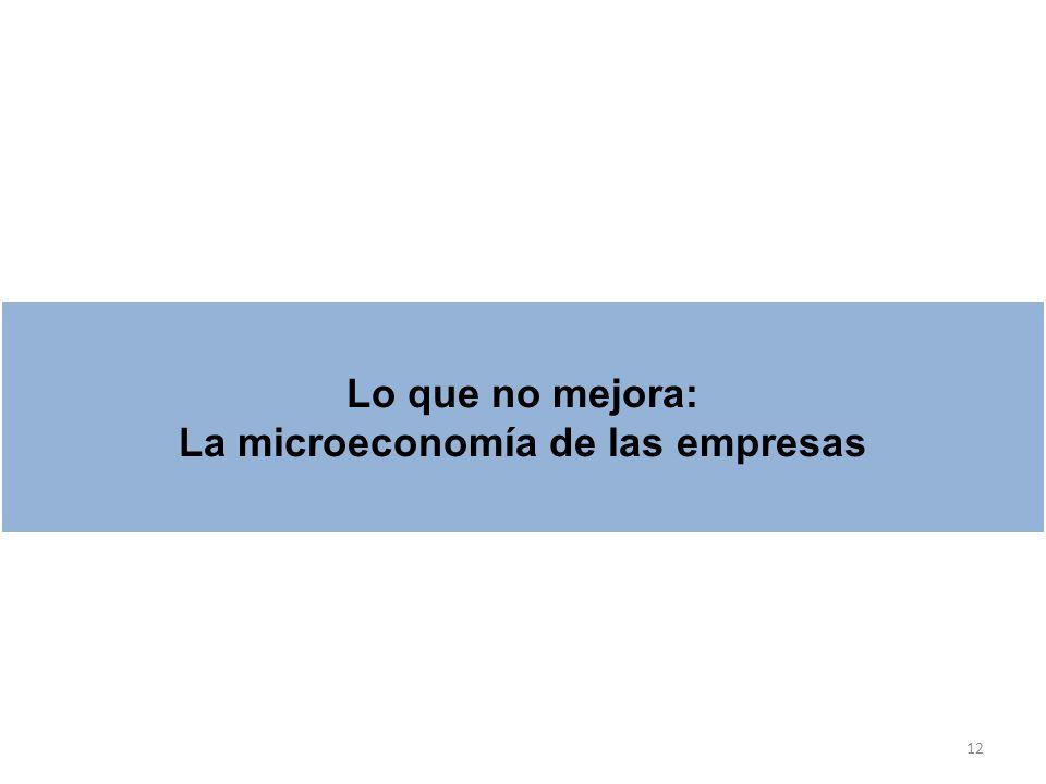 La microeconomía de las empresas