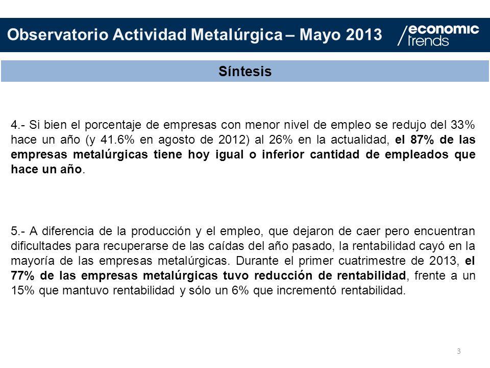 Observatorio Actividad Metalúrgica – Mayo 2013