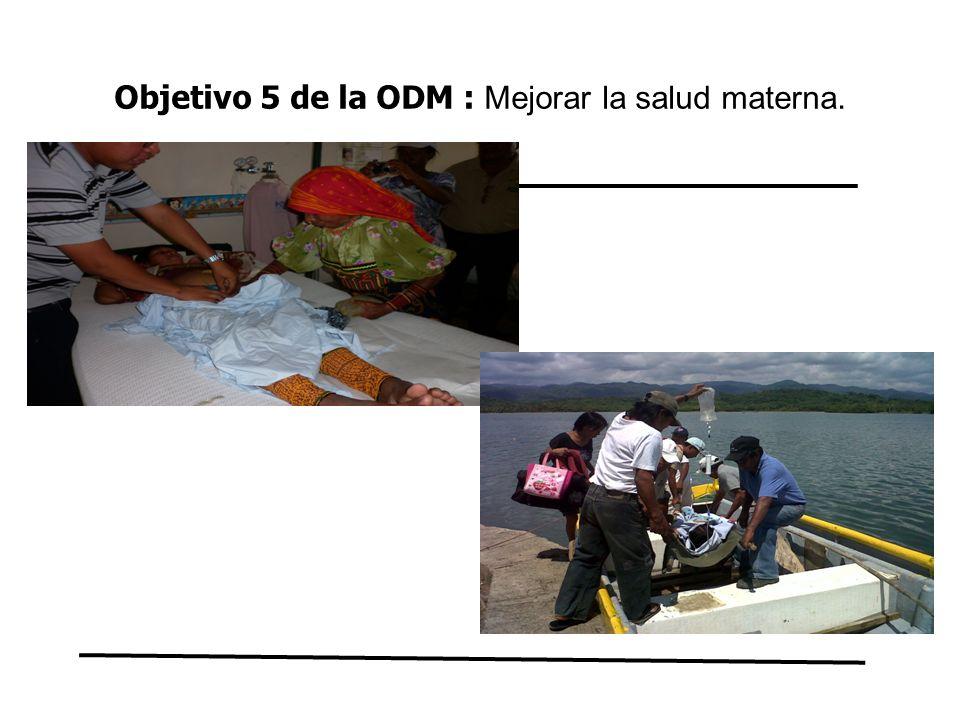 Objetivo 5 de la ODM : Mejorar la salud materna.