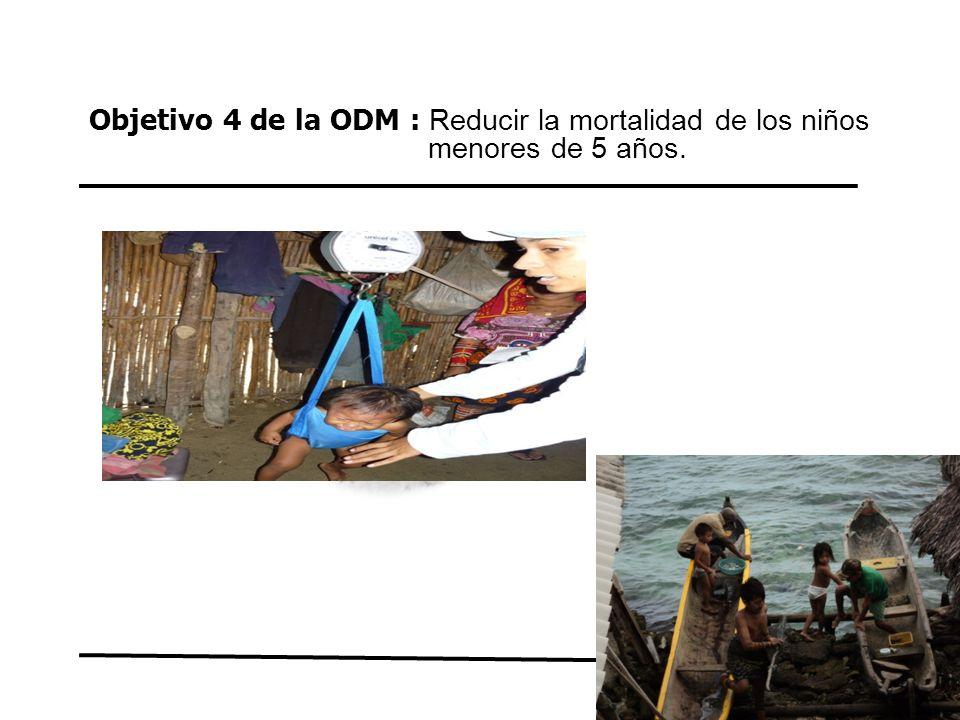 Objetivo 4 de la ODM : Reducir la mortalidad de los niños