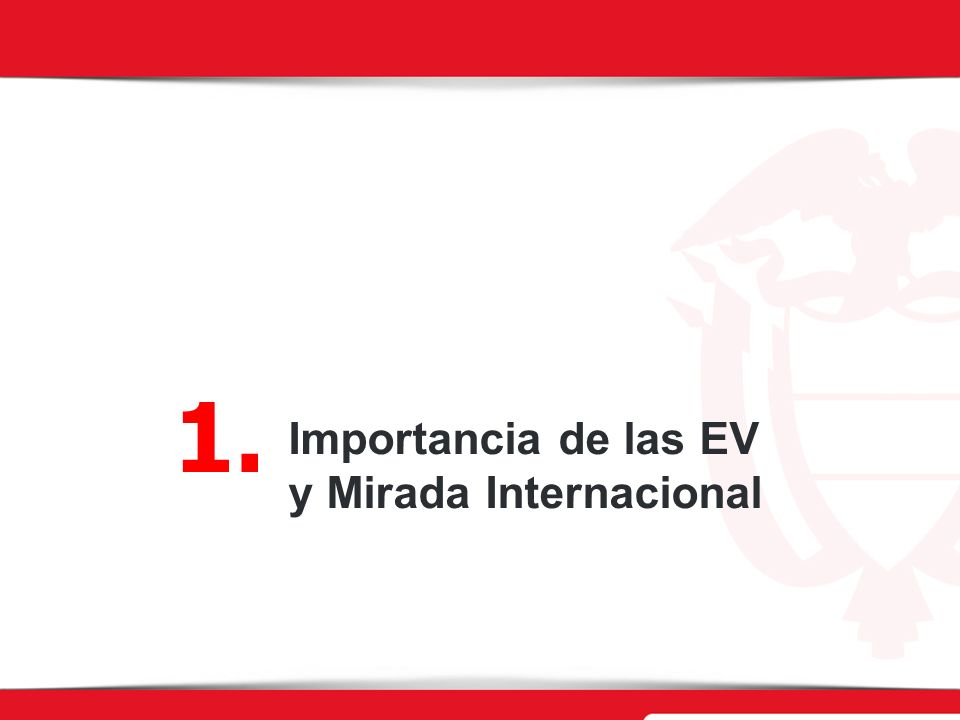 1. Importancia de las EV y Mirada Internacional