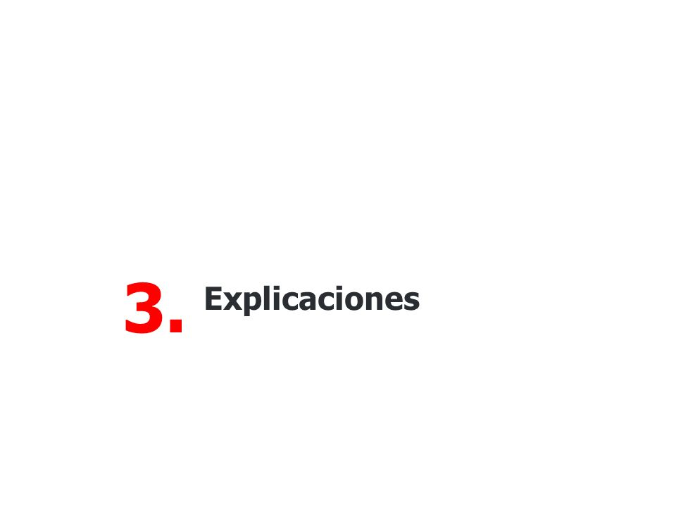 3. Explicaciones