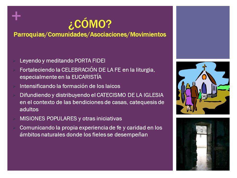 ¿CÓMO Parroquias/Comunidades/Asociaciones/Movimientos