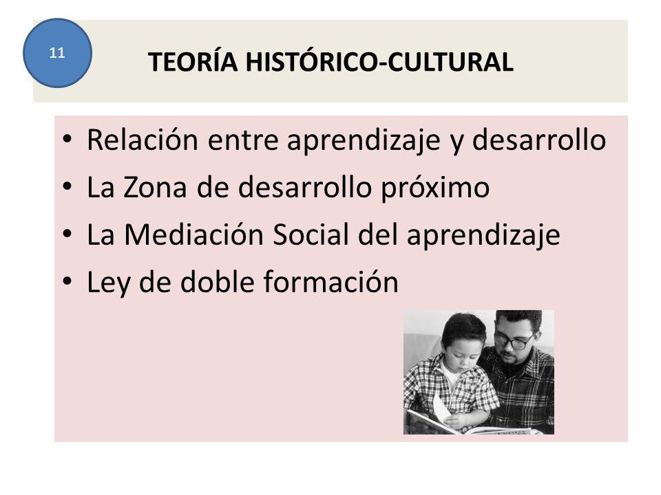 TEORÍA HISTÓRICO-CULTURAL