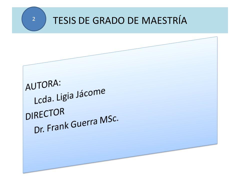 TESIS DE GRADO DE MAESTRÍA