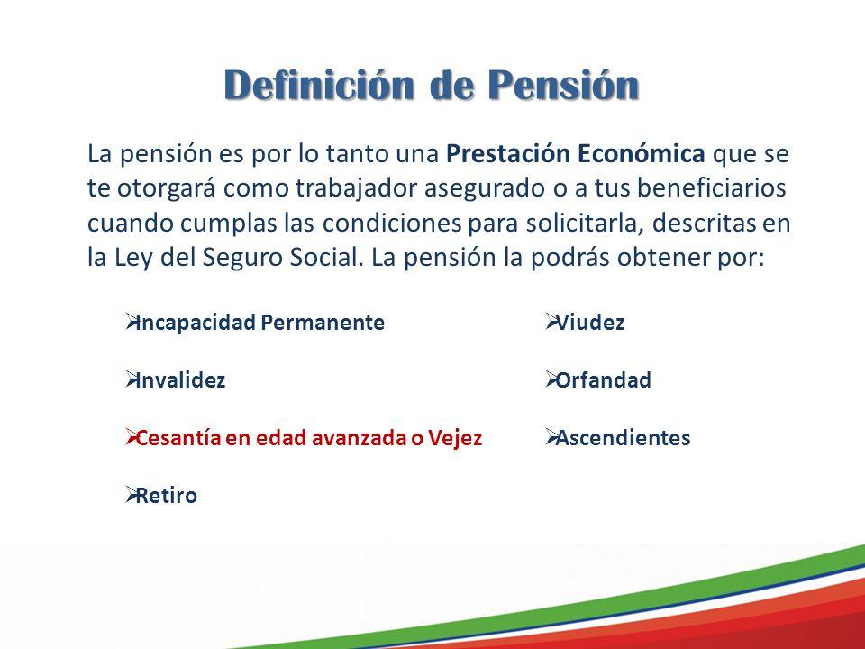 Definición de Pensión