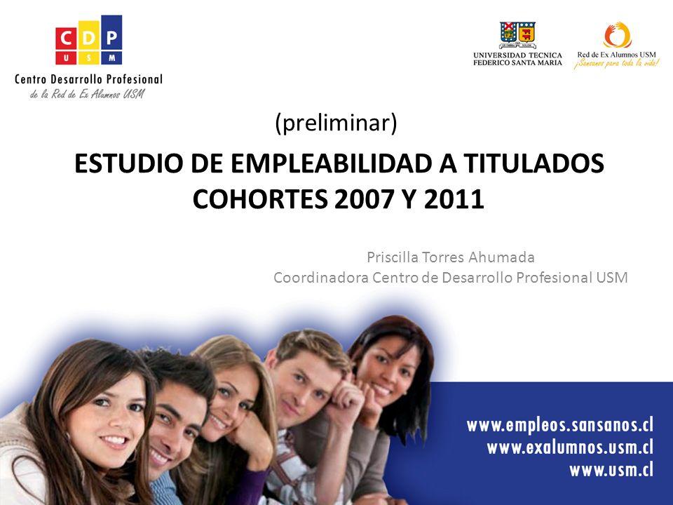 ESTUDIO DE EMPLEABILIDAD A TITULADOS COHORTES 2007 Y 2011