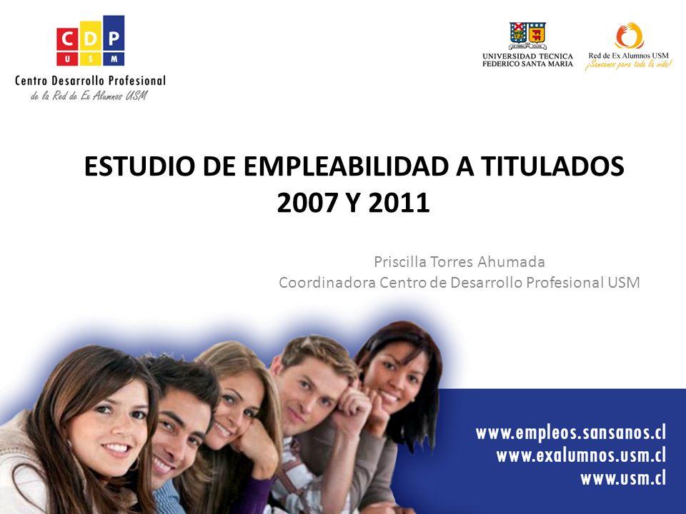 ESTUDIO DE EMPLEABILIDAD A TITULADOS 2007 Y 2011