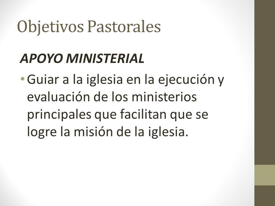 Objetivos Pastorales APOYO MINISTERIAL