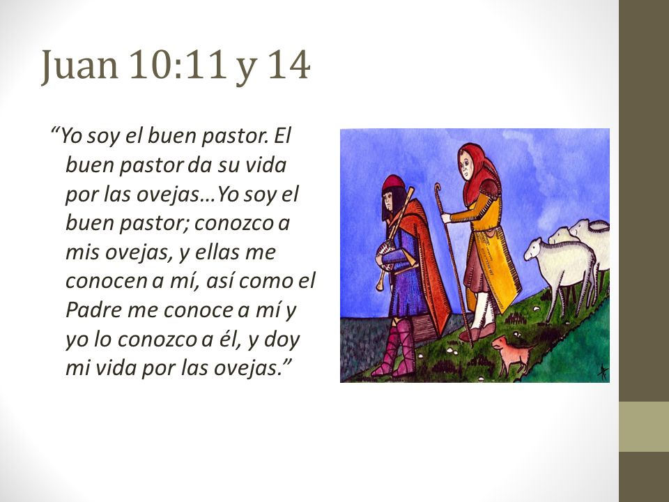 Juan 10:11 y 14