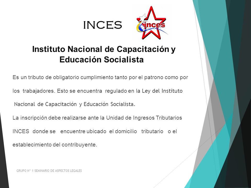 INCES Instituto Nacional de Capacitación y Educación Socialista