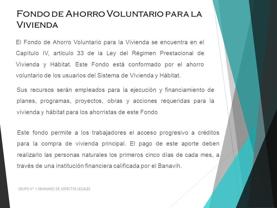 Fondo de Ahorro Voluntario para la Vivienda