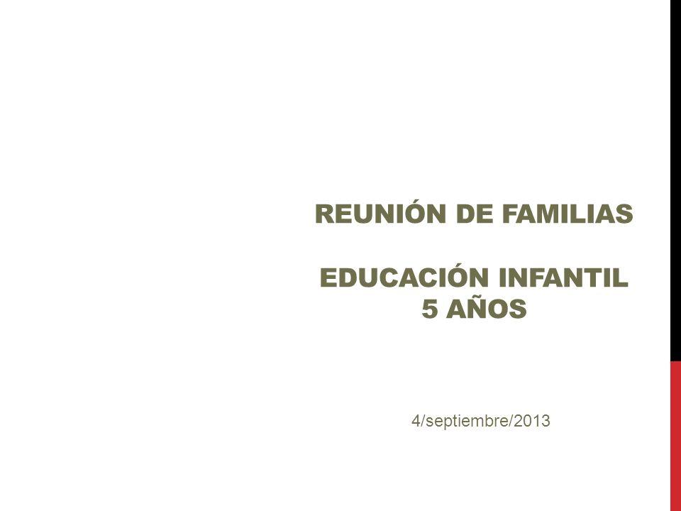 Reunión de familias EDUCACIÓN INFANTIL 5 años