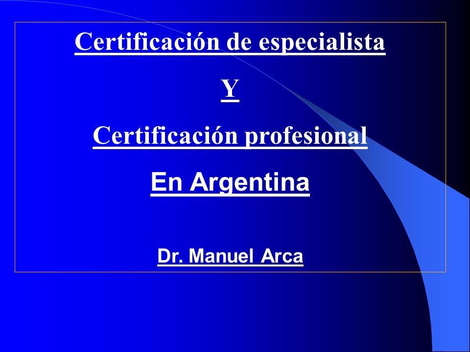Certificación de especialista Certificación profesional
