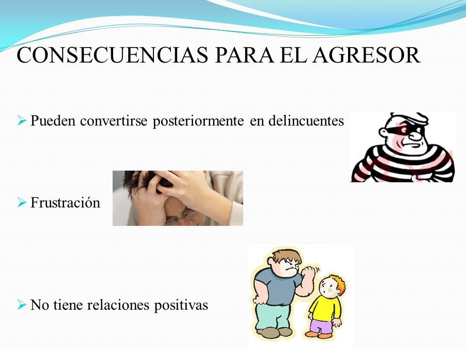 CONSECUENCIAS PARA EL AGRESOR