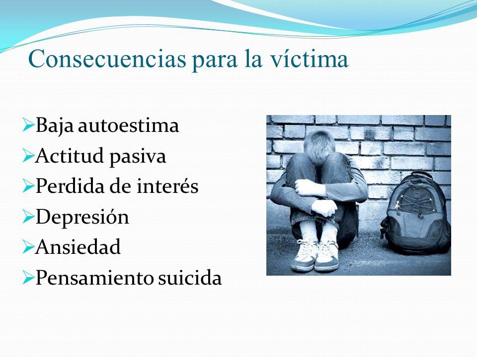 Consecuencias para la víctima