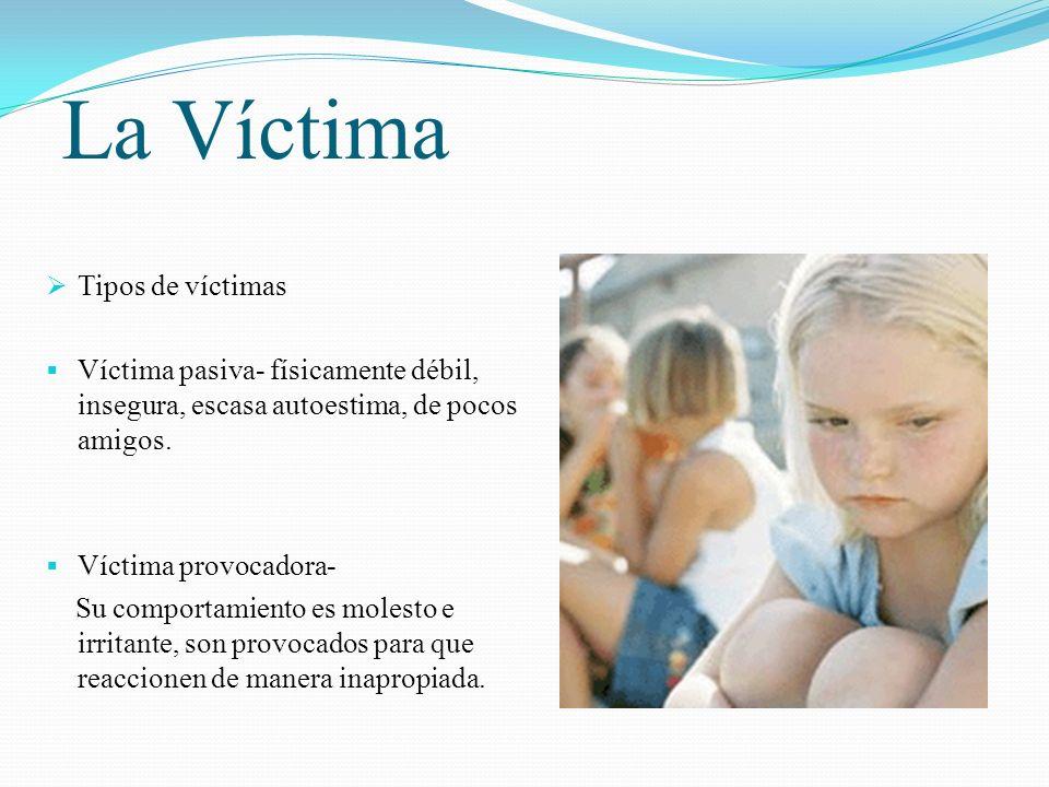 La Víctima Tipos de víctimas