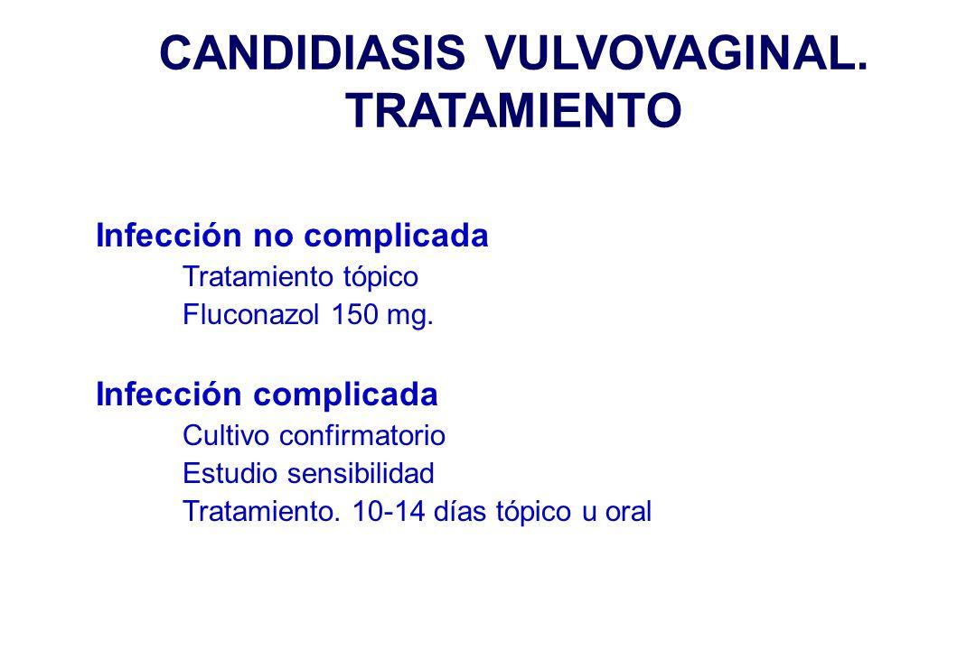 CANDIDIASIS VULVOVAGINAL. TRATAMIENTO