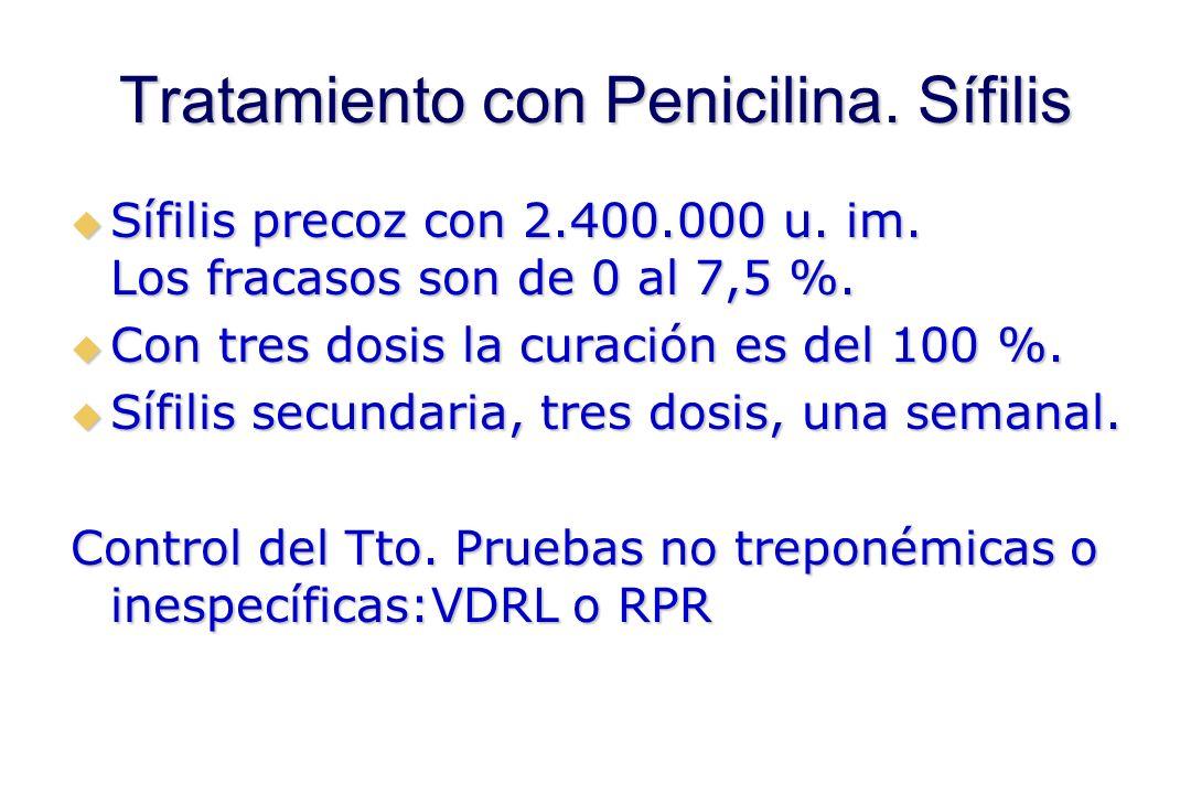 Tratamiento con Penicilina. Sífilis