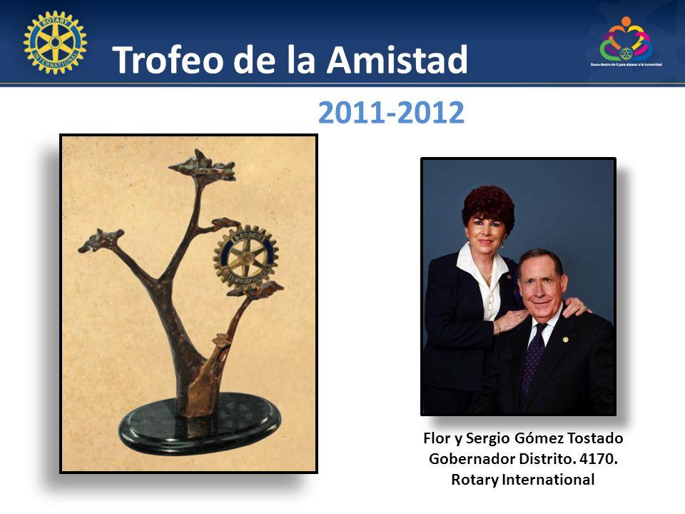 Flor y Sergio Gómez Tostado Gobernador Distrito. 4170.