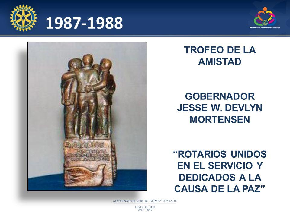 1987-1988 TROFEO DE LA AMISTAD GOBERNADOR JESSE W. DEVLYN MORTENSEN